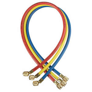 Yellow Jacket Manifold Hose Set 48 In red yellow blue 21984 Red Yellow Blue