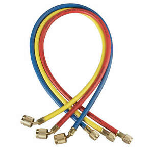 Yellow Jacket Manifold Hose Set 48 In red yellow blue 22984 Red Yellow Blue