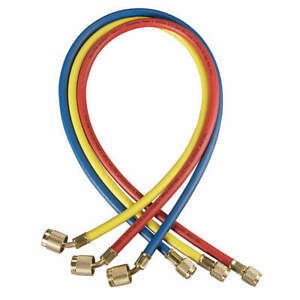 Yellow Jacket Manifold Hose Set 72 In red yellow blue 22986 Red Yellow Blue