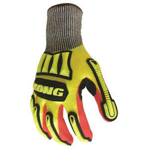 Ironclad Impact Gloves size L pr Mkc5 04 l High Visibility Yellow Red