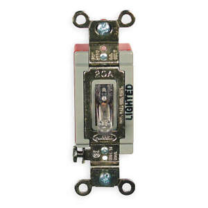 Hubbell Wiring Devic Illuminated Wall Switch 1 pole 20a clear Hbl1221ilc Clear