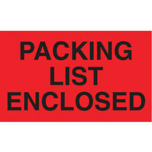 Tapecase Paper Adhesive Back Shipping Labels 3 In H 5 In W pk500 16u831 Red