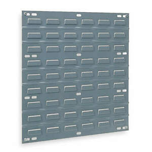 Akro mils Steel Louvered Panel 19 Overall H 0 Bins 30618 Gray