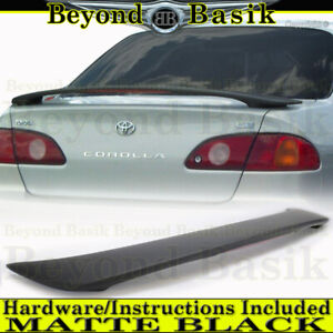 For Toyota Corolla 1998 1999 2000 2001 2002 Factory Style Spoiler Unpainted Led