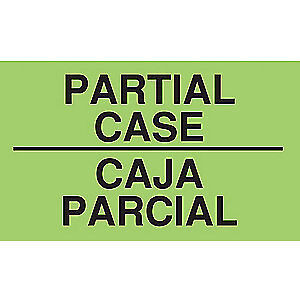 Tapecase Paper Adhesive Back Shipping Labels paper 3 In H pk500 16u922 Green