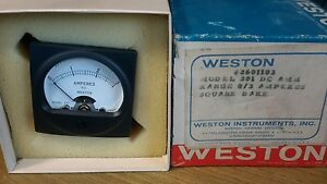 Weston 201 Amperes Meter Square Dc Amm 2601103 New 49
