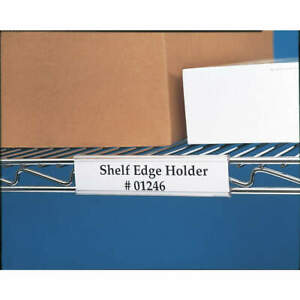 Wire rac Pvc Index Wire Rack Label Holder 24 In Pk6 Wr 1224 Clear