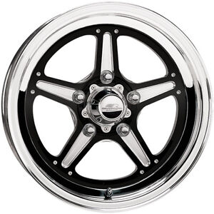 15x4 Billet Specialties Street Lite Black Wheel 5x4 5 2 25 bs Brs035406522n