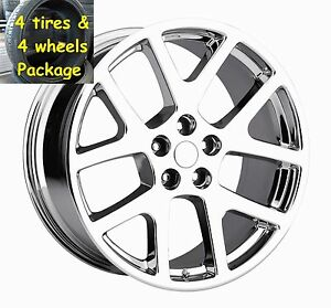 4 22 Viper Style Jeep Grand Cherokee Tires Wheels Rims Set Package Chrome