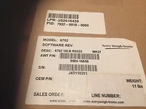 1 New Avery Berkel Model 6702 Point Of Sale Retail Scale 15 Lb Cap Rs232