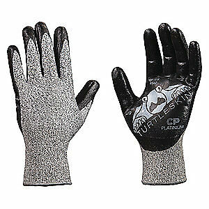 Turtleskin Cut Rsistnt Gloves blk slvr nitrile s pr Cpp 300 Black Silver