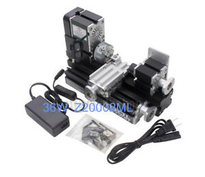 36w Aluminum Metal Mini Table Motorized Lathe Machine Diy Tool Model Woodworking