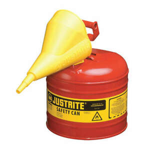 Justrite Type I Safety Can 2 Gal red 13 3 4in H 7120110