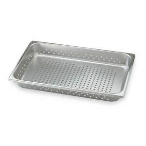 Vollrath Stainless Steel Perforated Pan half size 4 3 Qt 30223