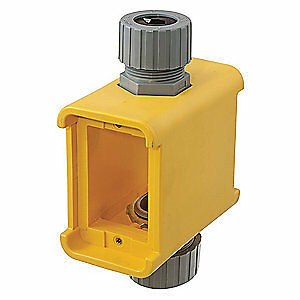 Hubbell Wiring Device Portable Outlet Box 5 00 l 2 77 w 4 30 d Hbl3090f Yellow