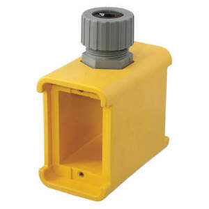 Hubbell Wiring Device Portable Outlet Box 2gang 1 hub 19cu In Hbl3099 Yellow