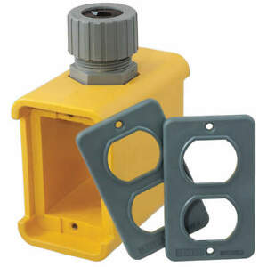 Hubbell Wiring Device Portable Outlet Box 5 00 l thermoplastic Hbl3000 Yellow