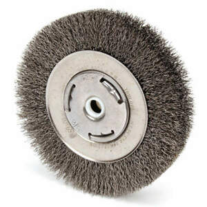 Weiler Crimped Wire Wheel Brush arbor 6 In 93113