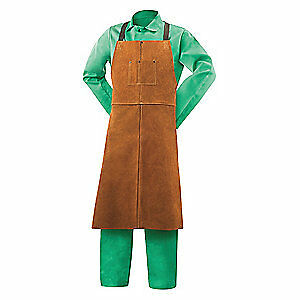 Steiner Split Cowhide Leather Welding Bib Apron 24 wx42 l 92166