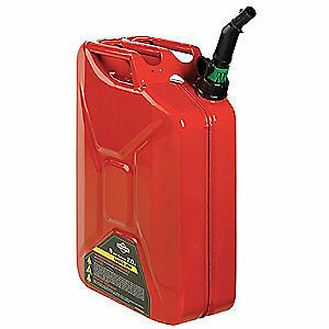 Briggs Stratton Galvanized Steel Gas Can 5 Gal red steel 85043 Red
