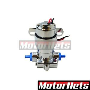 Universal Chrome Aluminum Electric Fuel Pump 100 Gph 7 Psi Blue Chevy Ford Gm