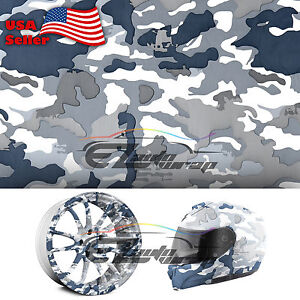 19 x38 Hydrographic Film Hydro Dipping Water Transfer Snow Camo Camouflage 08