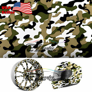 19 x38 Hydrographic Film Hydro Dipping Water Transfer Woodland Camouflage 09