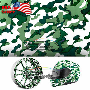 19 x38 Hydrographic Film Hydro Dip Water Transfer Green Forest Camouflage 10