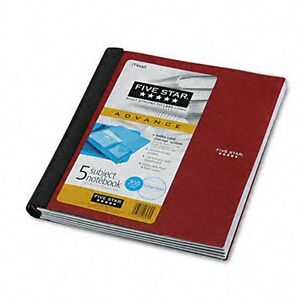 Wirebound 5 Subject Pocket Notebook Five Star College Pocket Dividers 200 Sheets