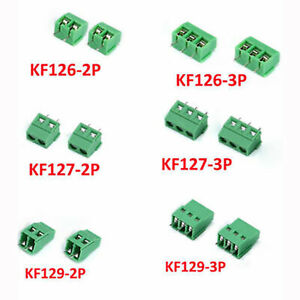 Kf126 127 129 2p 3p Terminals Screw Blocks Connector Pcb Mount Pitch 5 0 5 08mm