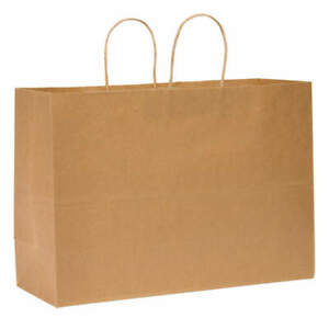 Grainger Approved Shopping Bag standard paper open pk250 12r079 Brown