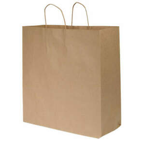 Grainger Approved Shopping Bag standard paper open pk200 12r081 Brown