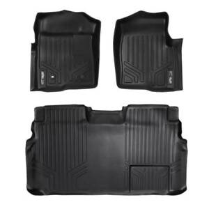 Maxliner 2009 2010 Ford F150 Super Crew Cab Floor Mats Complete Set Black
