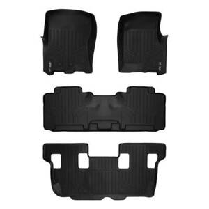 Maxliner 2011 2017 Ford Expedition Lincoln Navigator Floor Mats 3 Row Set Black