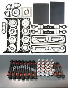Mahle Head Gasket Set Bolts Mercruiser Marine Chevy 350 5 7 W Center Bolt