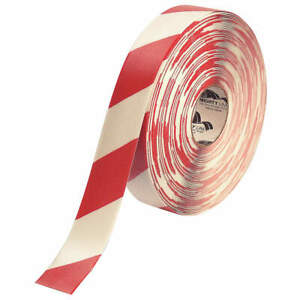 Mighty Line Ind Floor Tape roll red white vinyl 2rwchvred