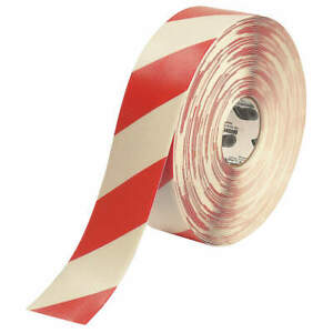 Mighty Line Ind Floor Tape roll red white vinyl 3rwchvred