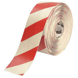 Mighty Line Ind Floor Tape roll red white vinyl 4rwchvred