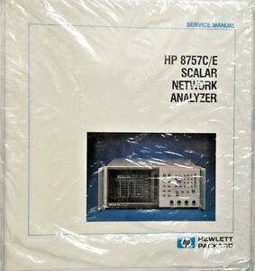 Hp 8757c e Scalar Network Analyzer Service Manual P n 08757 90072 new