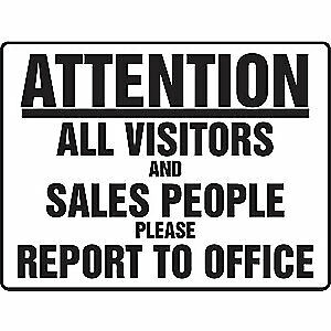 Accuform Facility Sign visitors To Office 24 X 36 Madm938vp