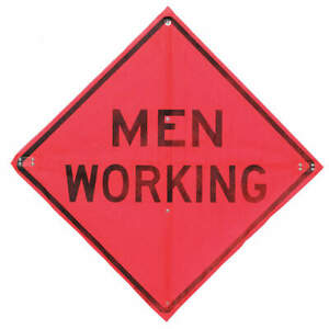 Usa sign Road Construction Sign 36 h 36 w mesh C 36 emo 3fh hd Men Working