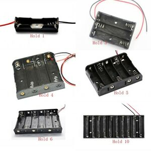 Aa Um 3 Wired Battery Box In 1 2 3 4 6 8 Cell Holder Sizes Free P p