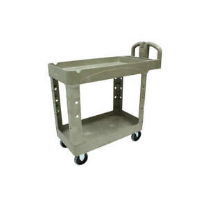 Rubbermaid Utility Cart 500 Lb Load Cap pe Fg450088beig