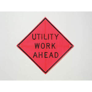 Road Construction Sign 36 h 36 w mesh C 36 emo 3fh hd Utility Work Ahead