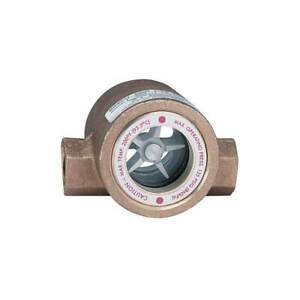 Double Sight Flow Indicator bronze 3 4in Sfi 300 3 4