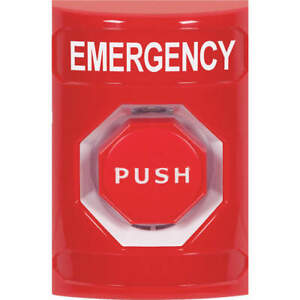 Safety Polycarbonate Emergency Push Button rd pneumatic Relay Ss2008em en Red