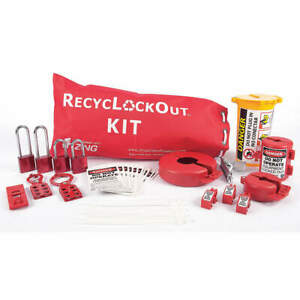 Zing Lockout tagout Kit filled electrical 2724 Red