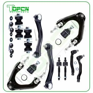 For 1990 1993 Honda Accord 14pcs Front Suspension Kit Upper Control Arms Tie Rod