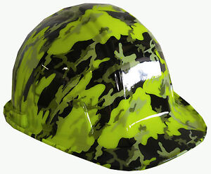 Hard Hat Sl Series Hi vis Green Urban Camo W Free Brb Customs T shirt