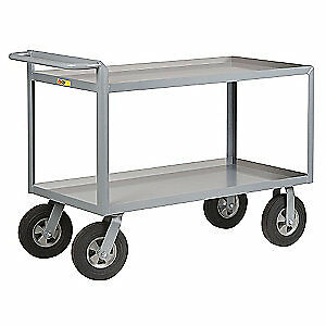Grainger Approved Utility Cart steel 54 Lx24 W 1500 Lb 5cha0 Gray